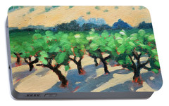 Portable Battery Charger featuring the painting Wine Habitat by Gary Coleman