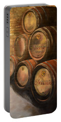 Wine In The Barrels - Chateau Meichtry Portable Battery Charger by Jan Dappen