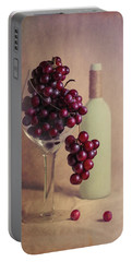 Wine On The Vine Portable Battery Charger by Tom Mc Nemar