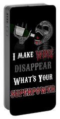 Wine Superpower Skeleton Fantasy Art Portable Battery Charger