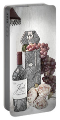 Portable Battery Charger featuring the photograph Wine Tasting Evening by Sherry Hallemeier
