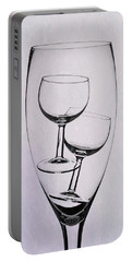Portable Battery Charger featuring the photograph Wineglass Trio by Tom Mc Nemar