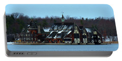 Snow On Boldt Castle Yacht House Portable Battery Charger