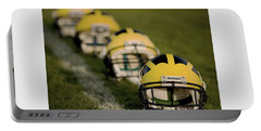 Winged Helmets On Yard Line Portable Battery Charger