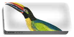 Winged Jewels 2, Watercolor Toucan Rainforest Birds Portable Battery Charger