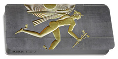 Portable Battery Charger featuring the photograph Winged Mercury by Sarah Loft