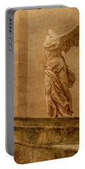 Paris, France - Louvre - Winged Victory Portable Battery Charger