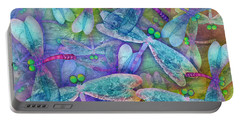 Wings Large In Square Format Portable Battery Charger by Teresa Ascone