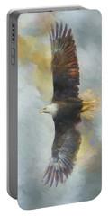 Wingspan Bald Eagle Art Portable Battery Charger