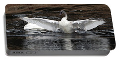 Wingspan Of A Trumpeter Swan Portable Battery Charger