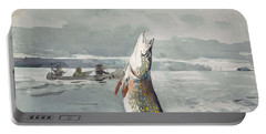 Winslow Homer   Pike  Lake St  John 189 7 Portable Battery Charger