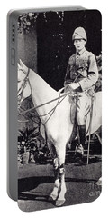 Winston Churchill On Horseback In Bangalore, India In 1897 Portable Battery Charger
