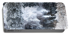Winter Along The Creek Portable Battery Charger