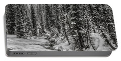 Portable Battery Charger featuring the photograph Winter Alpine Creek II by Brad Allen Fine Art