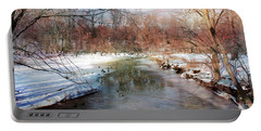 Winter At Cooper River Portable Battery Charger