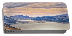 Winter At Horsetooth Reservior Portable Battery Charger