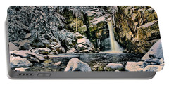 Winter At Kinsman Falls Portable Battery Charger