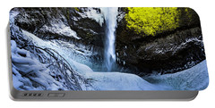 Winter At Latourell Falls Portable Battery Charger