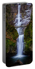 Winter At Multnomah Falls 2 Portable Battery Charger