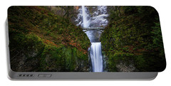Winter At Multnomah Falls Portable Battery Charger