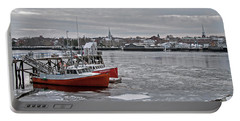 Winter At Newburyport Harbor Portable Battery Charger