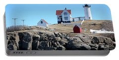 Winter At Nubble Point Portable Battery Charger