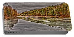 Winter At Pine Lake Portable Battery Charger