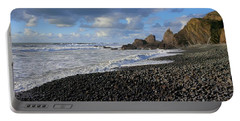 Winter At Sandymouth Portable Battery Charger by Richard Brookes