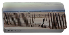 Winter At The Beach Portable Battery Charger