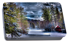 Portable Battery Charger featuring the photograph Winter At The Boathouse by David Patterson