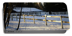 Portable Battery Charger featuring the photograph Winter At The Farm 365-285 by Inge Riis McDonald