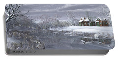 Winter At The Lake Portable Battery Charger by Jayne Wilson