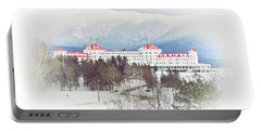 Winter At The Mt Washington Hotel 2 Portable Battery Charger by Tricia Marchlik