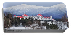 Winter At The Mt Washington Hotel Portable Battery Charger by Tricia Marchlik
