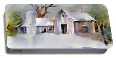 Winter Barn Portable Battery Charger by P Anthony Visco