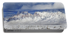 Portable Battery Charger featuring the photograph Winter Beauties Organ Mountains by Kurt Van Wagner