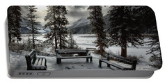Winter Benches By Beauty Creek Portable Battery Charger