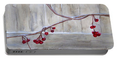 Winter Berries Watercolor Portable Battery Charger by Susan Lafleur