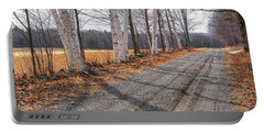 Winter Birches Portable Battery Charger by Tom Singleton