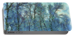 Winter Blue Forest Portable Battery Charger