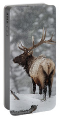 Winter Bull Elk Portable Battery Charger
