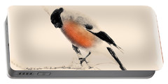 Winter Bullfinch Portable Battery Charger