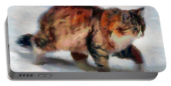 Winter Cat Portable Battery Charger by Sergey Lukashin