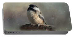 Winter Chicadee Portable Battery Charger