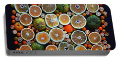 Winter Citrus Mosaic Portable Battery Charger