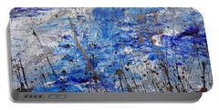 Portable Battery Charger featuring the painting Winter Crisp by Jacqueline Athmann