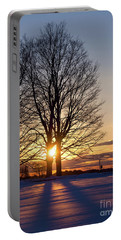 Portable Battery Charger featuring the photograph Winter, Crystal Spring Farm, Brunswick, Maine -78592 by John Bald
