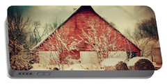 Winter Day On The Farm Portable Battery Charger