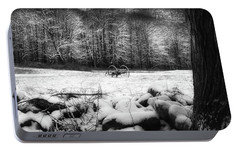 Portable Battery Charger featuring the photograph Winter Dreary Square by Bill Wakeley