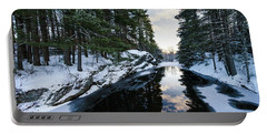 Portable Battery Charger featuring the photograph Winter, Durham, Maine #10542 by John Bald